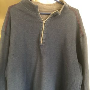 Tommy Bahama XXXL reversible sweater blue and grey